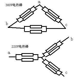 220V 380V发热管接线图